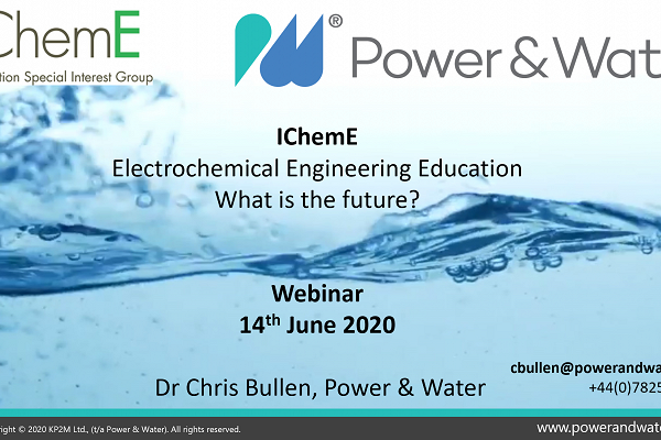 ELECTROCHEMICAL ENGINEERING EDUCATION - WHAT IS THE FUTURE?
