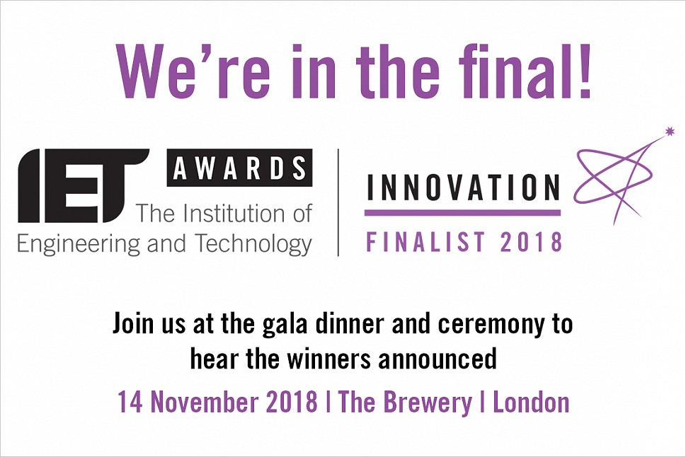 POWER & WATER NAMED FINALISTS IN THE IET INNOVATION AWARDS