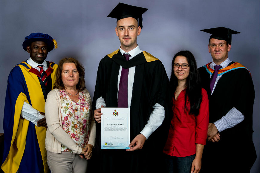 JAMES AWARDED THE PHILIP MORGAN GRADUATE INNOVATION PRIZE